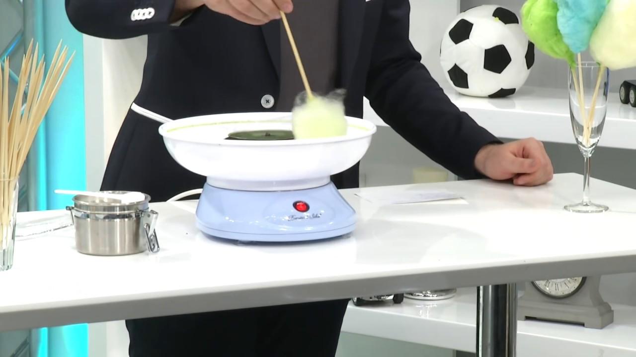 EU Plug 220 V Elektrische Zuckerwatte Maschine Zucker Zuckerwatte Maker W9I4
