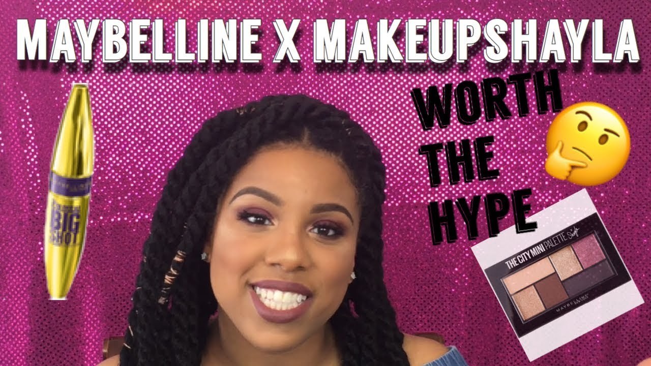 77e3190aa92 FIRST IMPRESSIONS using MAKEUPSHAYLA X MAYBELLINE COLLABORATION DRUGSTORE  PRODUCTS  LaMonicas Lab