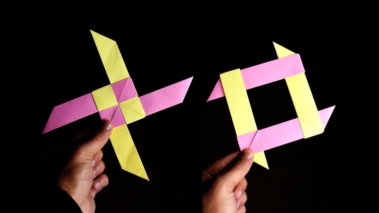 how to make a paper boomerang ninja star
