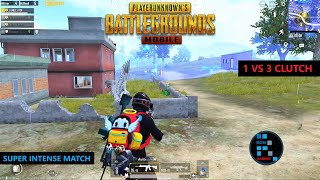 PUBG MOBILE | INTENSE 1 VS 3 CLUTCH IN THE END GAME CHICKEN DINNER (OLD RECORDING)