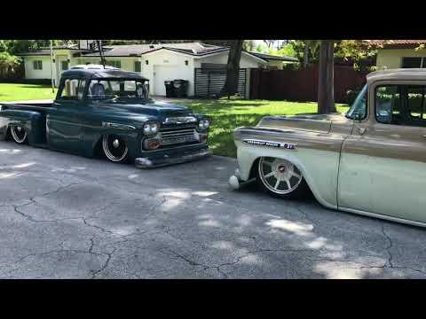 Rare Chevy Apache Patina Trucks Accuair @Chucksee