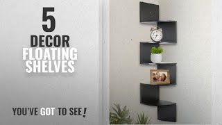 Top 10 Decor Floating Shelves [2018 ]: Greenco 5 Tier Wall Mount Corner Shelves Espresso Finish