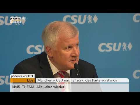 Pressekonferenz von Horst Seehofer (CSU) am 04.12.17