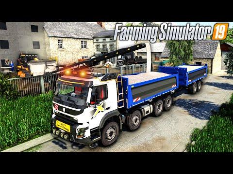 Canalisation à changer & Epandage de Gravier (Farming Simulator 19 TRAVAUX PUBLICS)