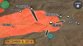 9 декабря 2016. Военная обстановка в Сирии. ИГИЛ идут на Пальмиру. Русский перевод.