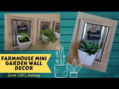 Farmhouse Mini Garden Wall Decor | Dollar Tree DIY
