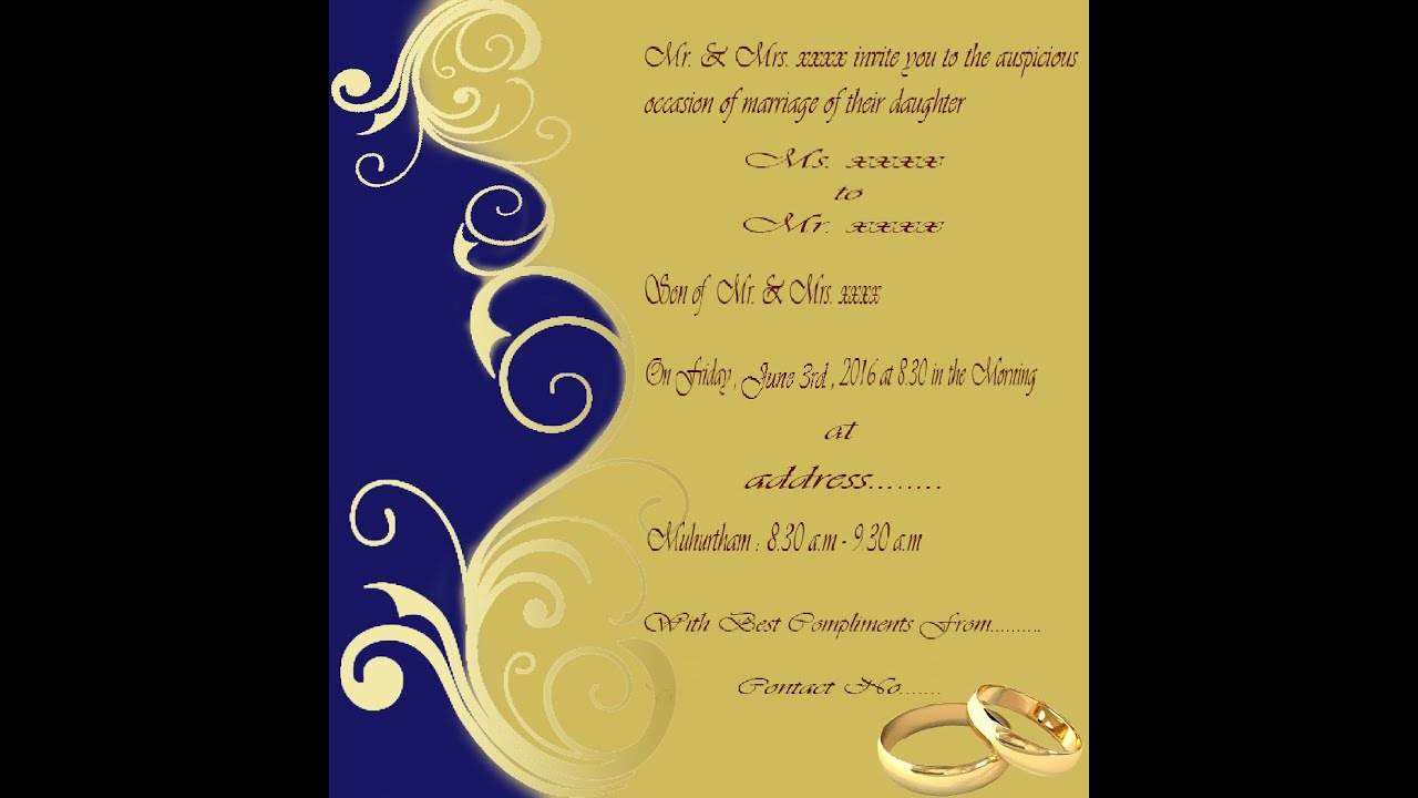 how to create wedding invitation