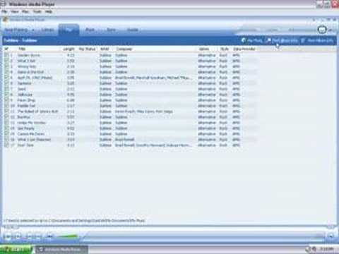 How to Rip Music from CDs to Sansa MP3 Player Using WMP10