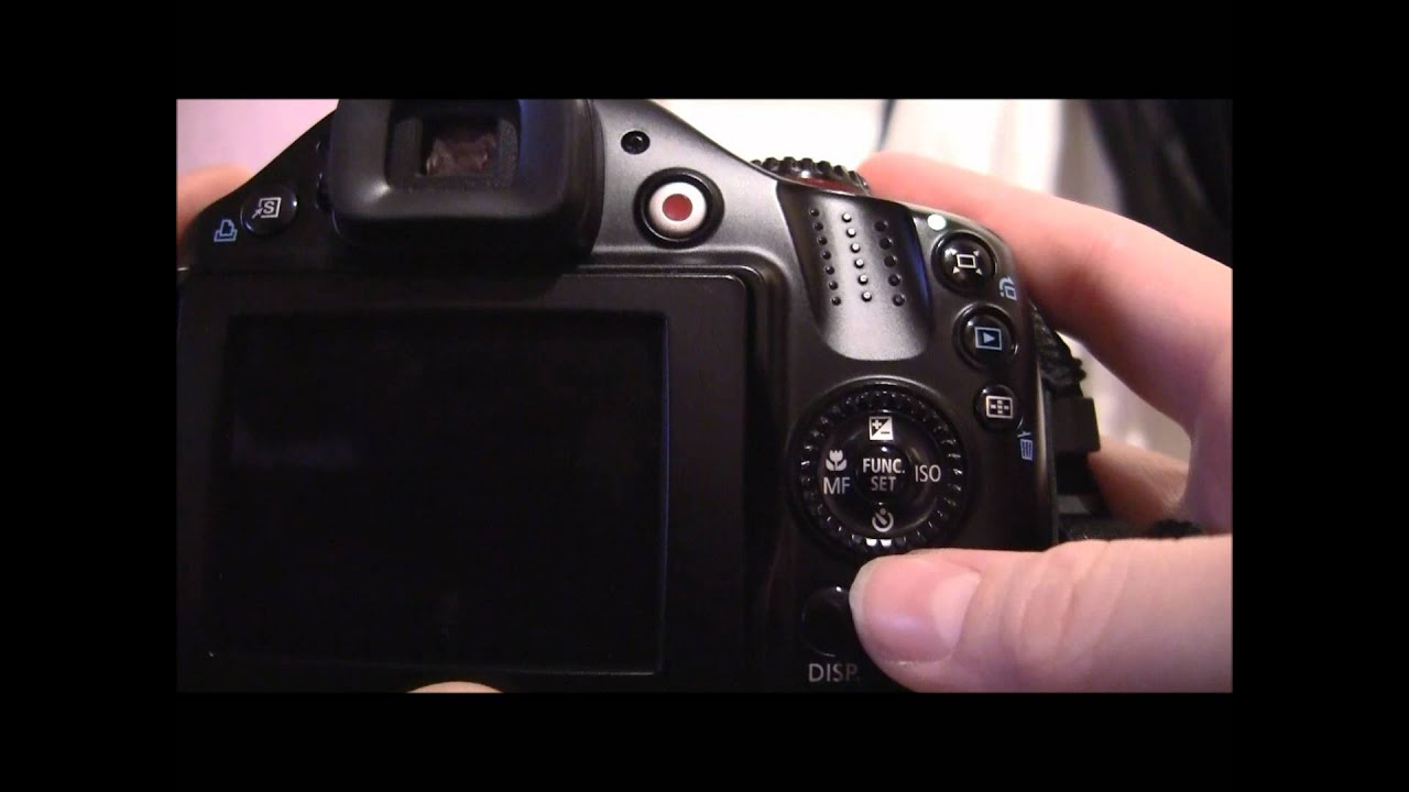 canon powershot sx40 hs tutorial step one camera layout youtube