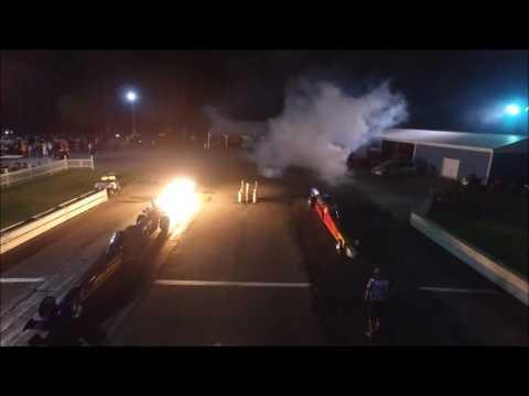 Dueling Jet cars night