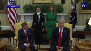 جلالة الملك يبحث مع الرئيس الأمريكي آخر التطورات في الحرم القدسي - (29-7-2017)