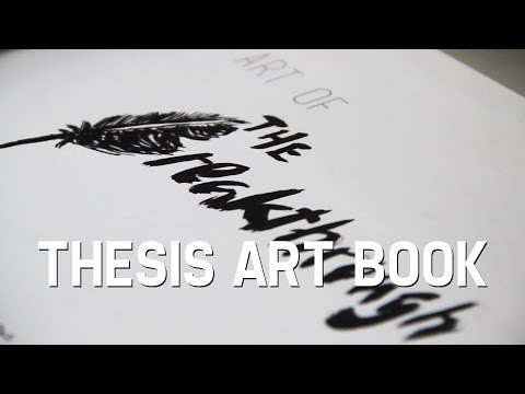 A Flip Through My Thesis Art Book | The Breakthrough