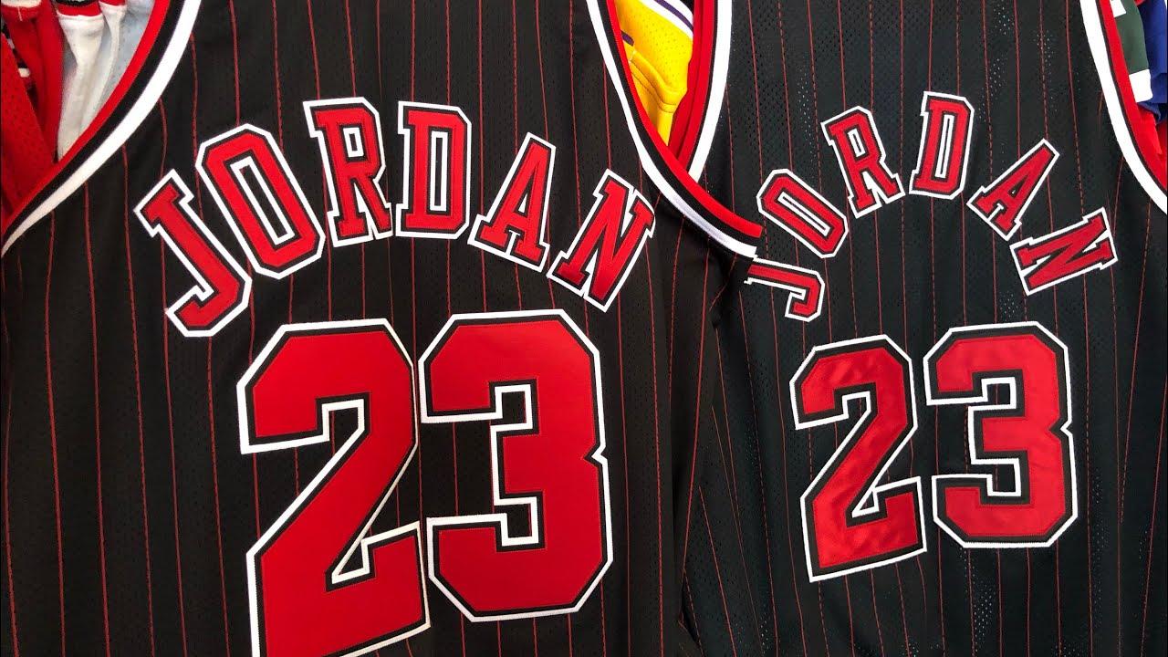 best cheap eae3e 0b15f Authentic Michael Jordan Pinstripe Jersey Mitchell & Ness vs Nike 84/03  Series