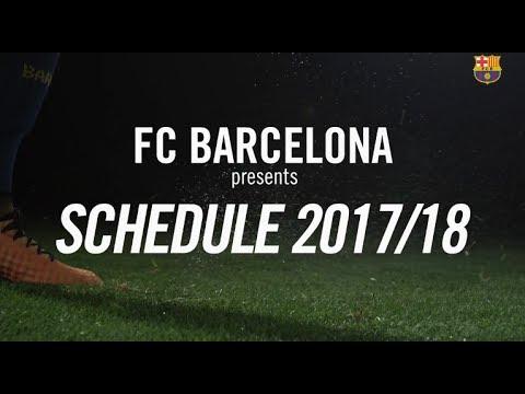 Fc barcelona - laliga 17/18 schedule