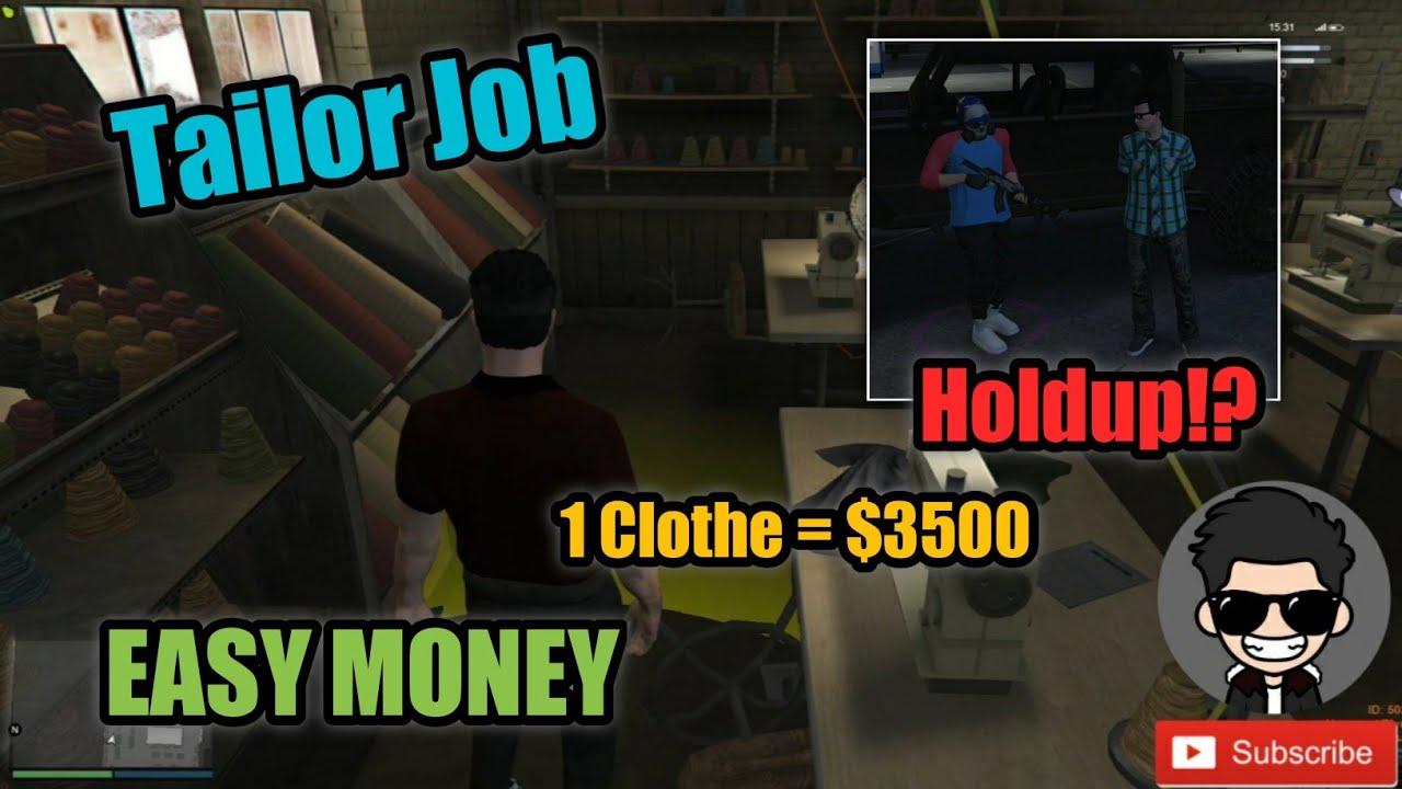 Tailor Job sa GTA V RP || Trabaho muna tayo para Yumaman 🤑 || Kaso na Holdup!? Bye $560,000 😭