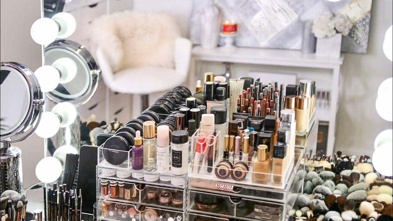 My Makeup Collection \u0026 Organization 2018