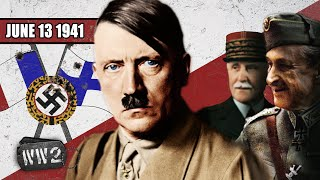 Finland and France Join Hitler - WW2 - 094 - June 13 1941