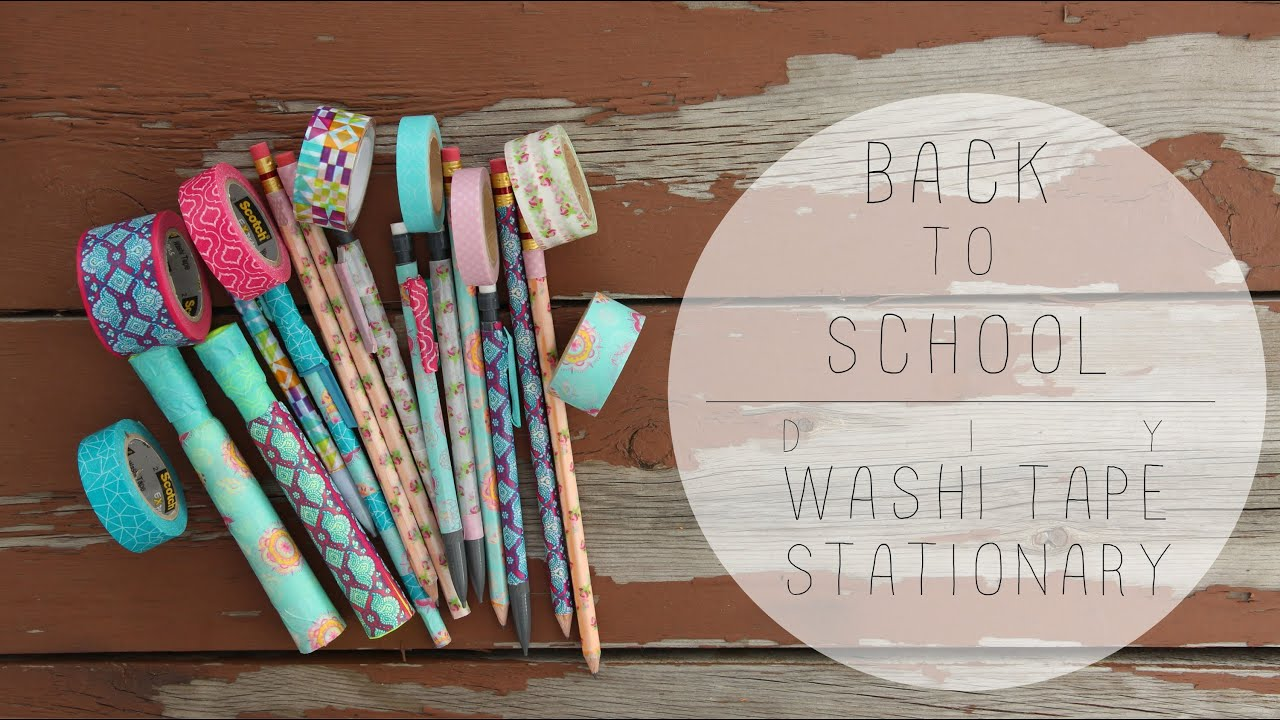 Back to school diy washi tape stationary youtube solutioingenieria Image collections
