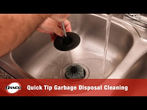 Quick Tip for Cleaning Garbage Disposals with Brush.It