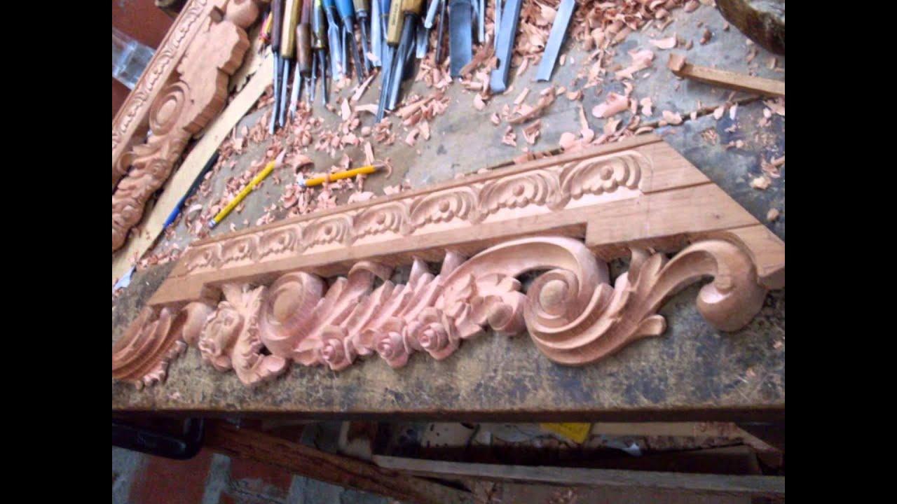 muebles tallados en madera