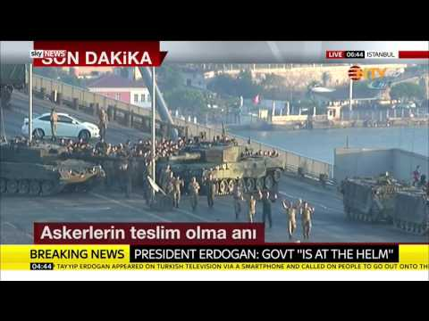 Soldiers Involved In Turkey Coup Surrender In Istanbul