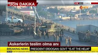 Soldiers Involved In Turkey Coup Surrender In Istanbul thumbnail