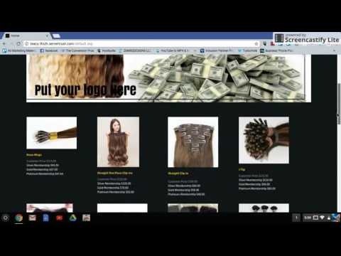 Hair Extension Website for sale. Just $99 with Affiliate software