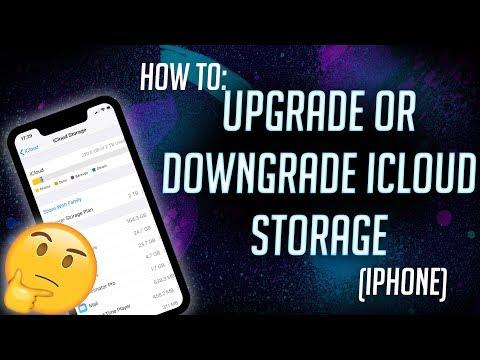 HOW TO: Upgrade / Downgrade iCloud Storage (iPhone & iOS)