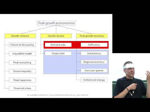 Niko Paech: Scenarios for a post-growth economy - Degrowth L
