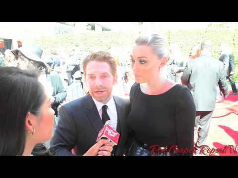 Seth Green & Clare Grant at the 66th Creative Arts Emmy® Awards Red Carpet #EmmysArts