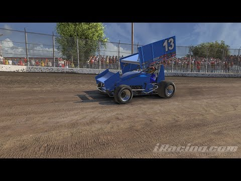iRacing --- Dirt Sprint Car - 305 at Volusia Speedway Park (Driver View).
