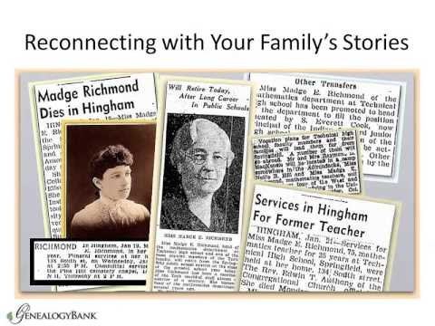 How To Find Your Family Stories in Newspapers - Genealogy Research Tutorial
