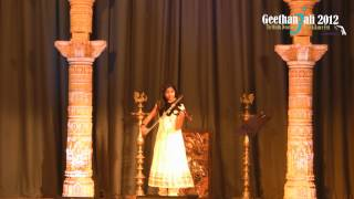 Geethanjali 2012 Sree Vinayakam Violin Solo by Gem Pipps (Little Angels)
