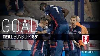 Lamar Hunt U.S. Open Cup Semifinal: New England Revolution vs. Chicago Fire: Teal Bunbury Goal