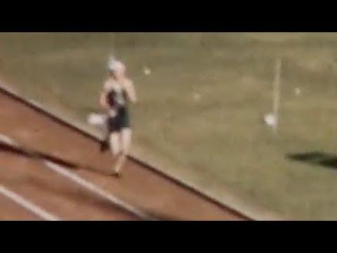 MARATHON Melbourne 1956 Alain Mimoun (Amateur footage)