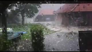 WOW - EPIC BIG HAIL STONES in furious Dutch hail storm - June 2016