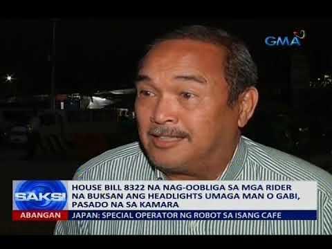 Panukalang nag-oobliga sa mga rider na buksan ang headlights umaga man o gabi, pasado na sa Kamara