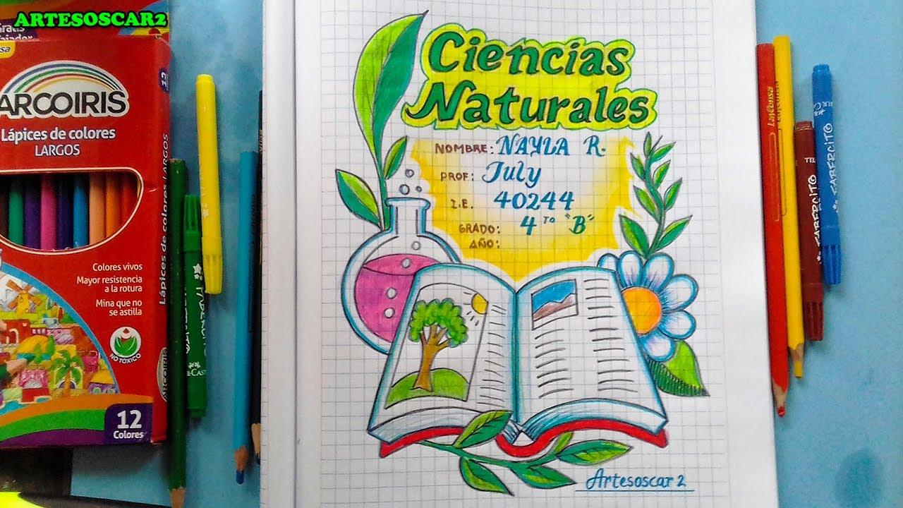 Portada Bonita De Ciencias Naturales Fácil Covers For Notebooks Youtube
