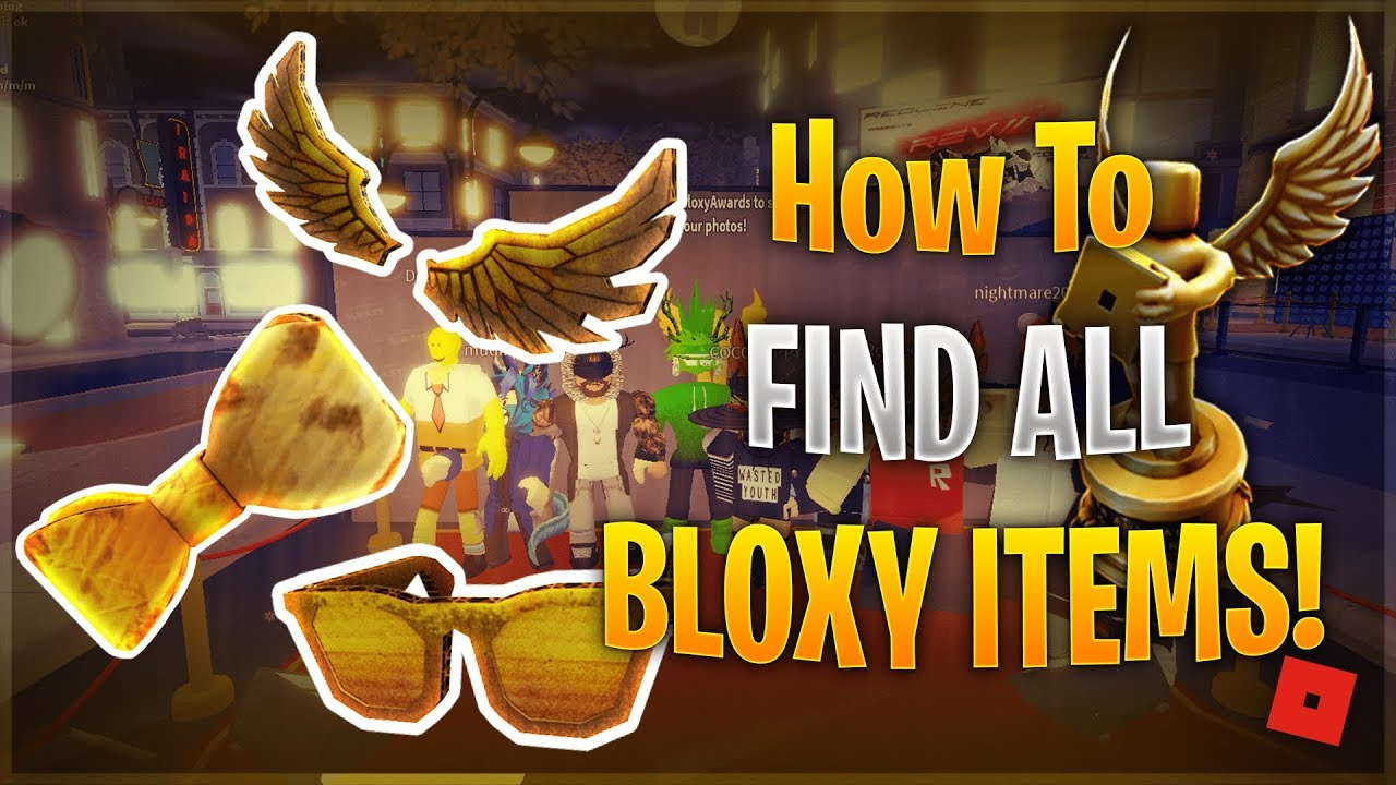 3272d23849 ROBLOX HOW TO GET BLOXY EVENT ITEMS GUIDE (DIY Golden Bloxy Wings ...