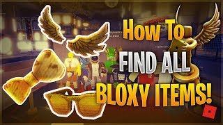 ROBLOX HOW TO GET BLOXY EVENT ITEMS GUIDE (DIY Golden Bloxy Wings)