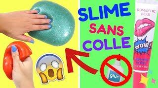 2 RECETTES SLIME SANS COLLE INRATABLE !!! 😱 ET SANS BORAX | ASMR SLIME thumbnail