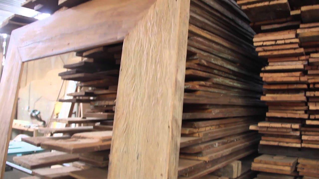 Moldura em madeira de demolição larga 2x1 - Decoração ...
