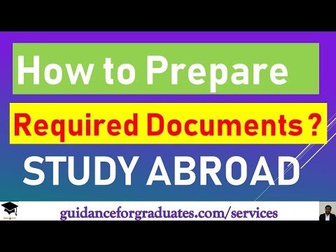 Important Documents for Masters Application Abroad, Study in Europe, Canada, USA, Australia and UK