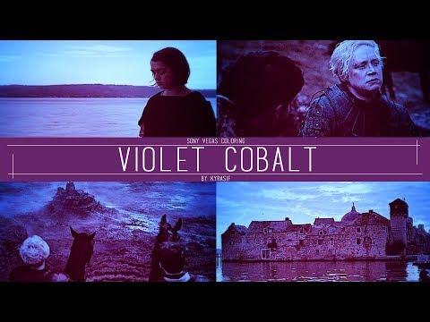 ● violet cobalt | sony vegas coloring