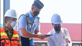Dialog Presiden RI dengan Pengemudi Truk Kontainer, Terminal Tanjung Priok, 10 Juni 2021