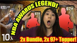 🔥 EPIC 97 & 98 OVR AWARDS LEGEND PULLS🔥 OPENED 2X AWARDS LEGEND BUNDLES! NBA LIVE MOBILE