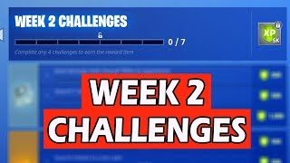ALL FORTNITE: WEEK 2 CHALLENGES! *LEAKED* SEASON 6 BATTLE PASS GUIDE