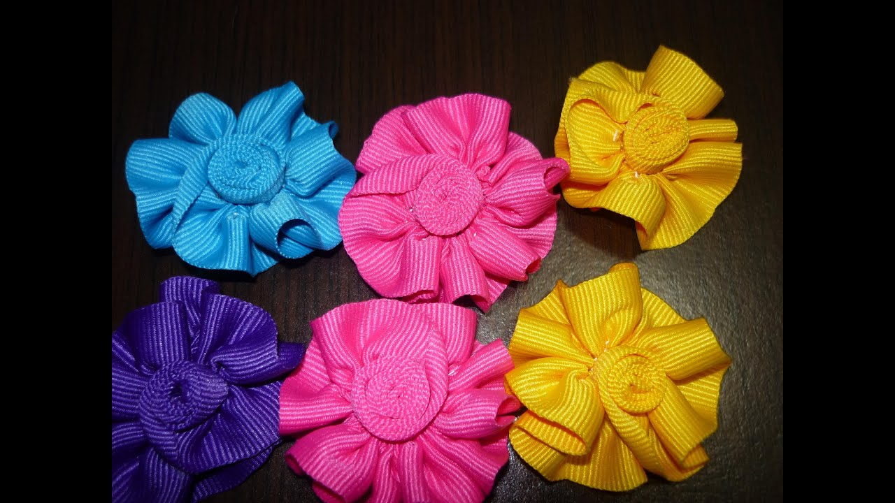 Tutorial rosas flores liston gros how to make hair bows como hacer lazos diy 10 viyoutube - Lazos en cinta ...