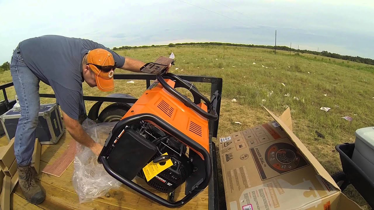 Generac LP 5500 Propane Generator Unboxing and Assembly