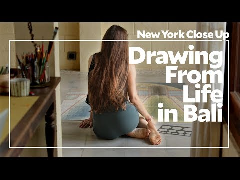 """Louise Despont: Drawing from Life in Bali   Art21 """"New York Close Up"""""""